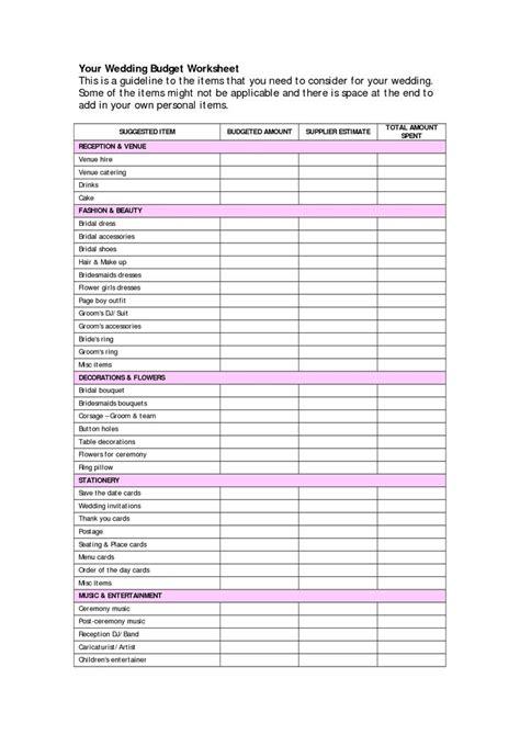 wedding budget templates document info   wedding