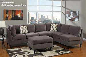 poundex f7493 ash grey sectional sofa in los angeles ca With grey sectional sofa los angeles