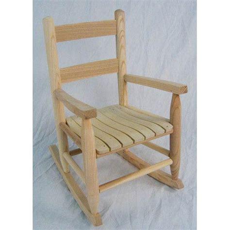 unfinished wood rocker bellacor