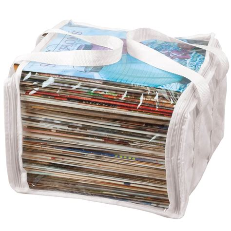 Zeitschriften Aufbewahrung by Magazine Storage Bags In White Plastic Magazine Storage