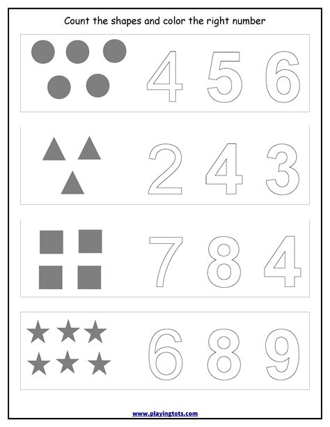worksheet counting shapescoloring numbers keywordsfree