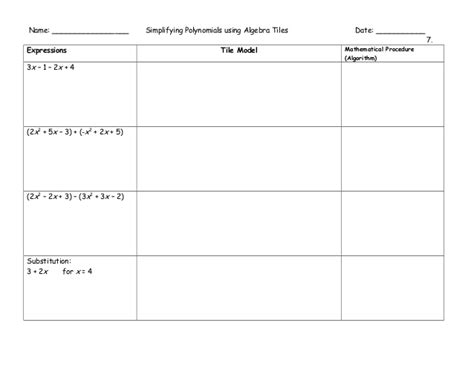 Algebra Tiles Worksheet Solving Equations by Algebra Tiles Graphic Organizers
