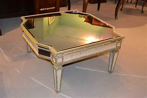stunning art deco large mirrored coffee table ref no 03263 With mirrored chest coffee table