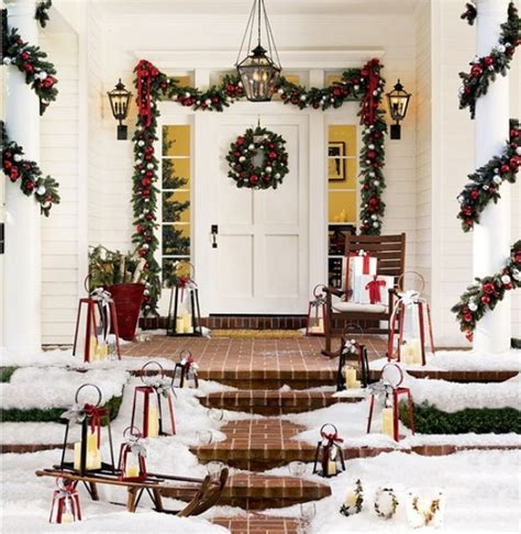 decorating porch column for xmas 10 decorating ideas for your front porch freshome