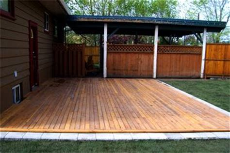 17 Best Ideas About Ground Level Deck On Pinterest