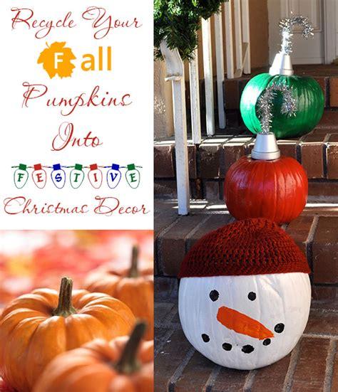 recycle fall pumpkins  festive christmas decor