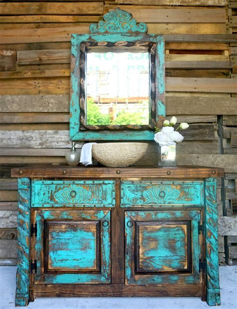 shabby chic turquoise 29 vintage and shabby chic vanities for your bathroom digsdigs