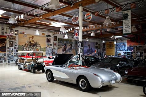 leno garage tour the ultimate hobby shop leno s garage speedhunters