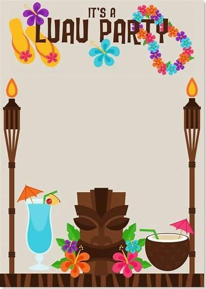 Luau Hawaiian Invitation Invitations Party Templates Tropical