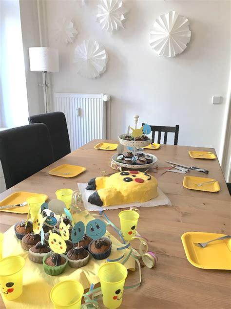 pokemon party zum kindergeburtstag mit deko spielen