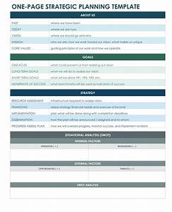 one page strategic plan excel template bit of this With writing a strategic plan template