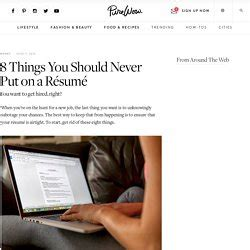 Things You Never Put On A Resume by Emilypatterson Pearltrees