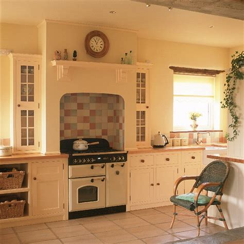 Country Kitchen Tile Ideas by Shaker Style Country Kitchen Kitchen Design