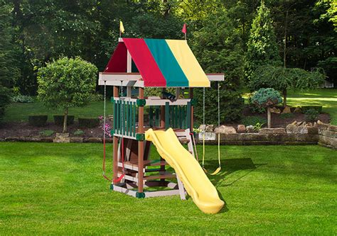 swing sets for small spaces poly space saver swingset series playmor in ohio 8419