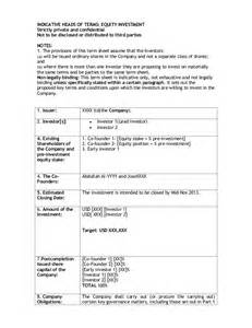 Investor Term Sheet Template This Is How A Standard Term Sheet Looks Like