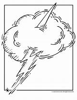 Coloring Tornado Pages Weather Thunder Wind Lightening Cloud Clip Popular sketch template