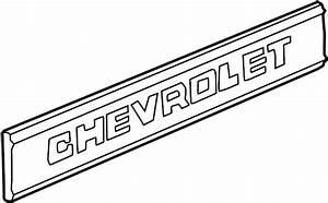 Gmc C1500 Tailgate Emblem  Upper   6 5 Foot Fleetside