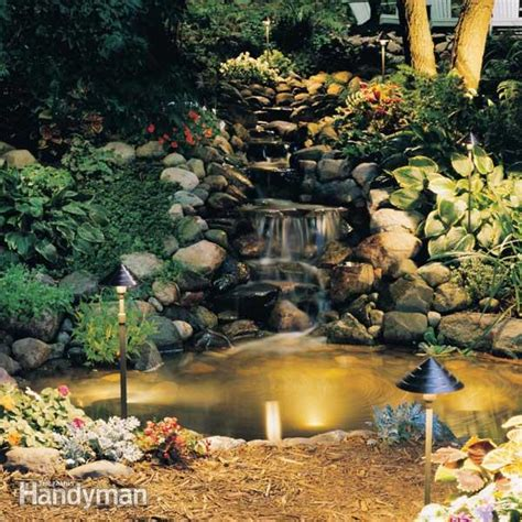 outdoor low voltage landscape lighting installation