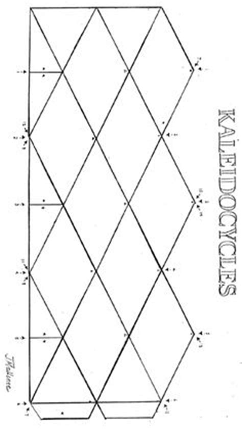 flextangle template kaleidocycle pattern thanks megan printables patterns