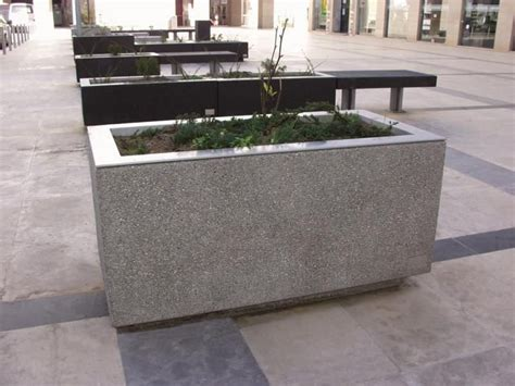 planter concrete concrete planter boxes touch your outdoor space with beautiful texture and sight homesfeed