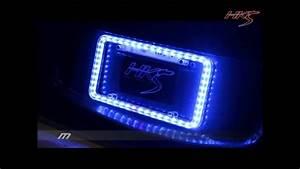 Universal Led Illuminated Acrylic License Plate Frame - Blue