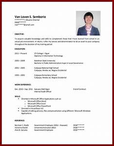 Sample resume for college student with no experience for Sample resume for it student with no experience