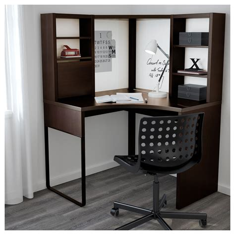 micke corner workstation black brown 100x142 cm ikea