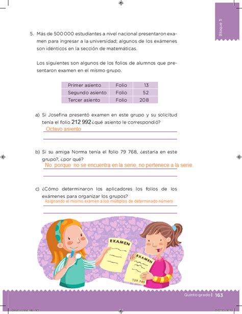 desafios matematicos quinto grado bloque 4 contestado