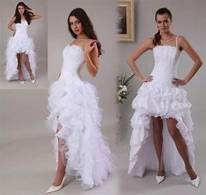 Robe Courte Mariée : robes de mode robe mariee longue et courte ~ Melissatoandfro.com Idées de Décoration