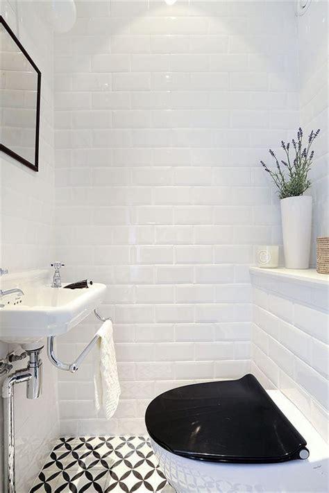 wc noir et blanc carreaux de ciment et m 233 tro bath