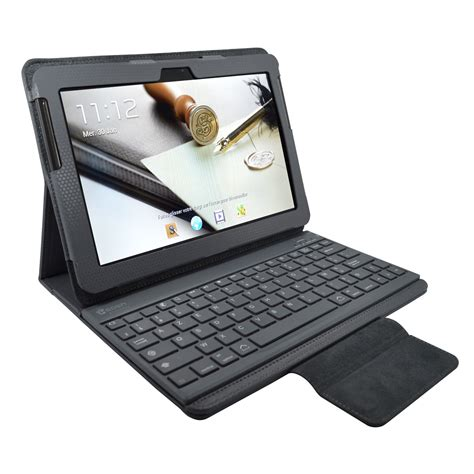 pc bureau apple heden housse business gris pour samsung galaxy tab 10 1 2