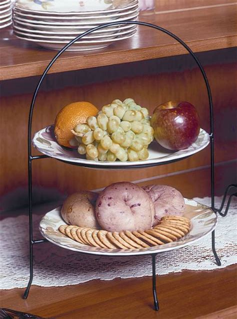 pie  plate racks double tier vertical tiered plate stands