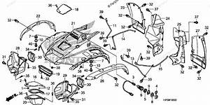 Honda Atv 2009 Oem Parts Diagram For Front Fender