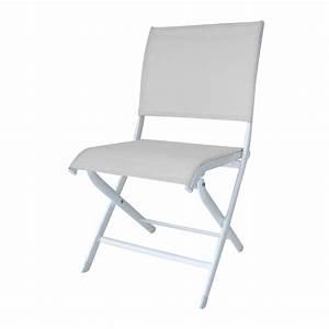 Chaise De Jardin Blanche : chaises de jardin alu textil ne blanche elegance proloisirs ~ Dailycaller-alerts.com Idées de Décoration
