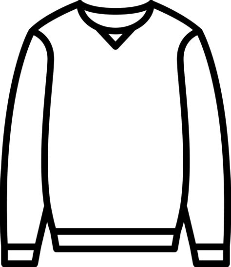 Kleurplaat Trui by Sweater Svg Png Icon Free 62954