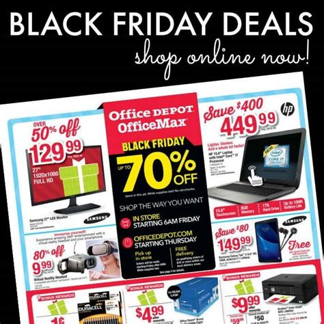 Office Depot Hours Black Friday by Office Depot Black Friday Ad 2017 Deals Store Hours
