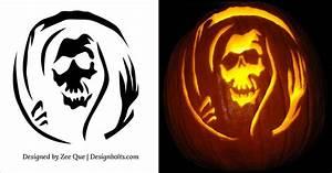 10, Free, Halloween, Scary, Pumpkin, Carving, Patterns, U0026, Stencils