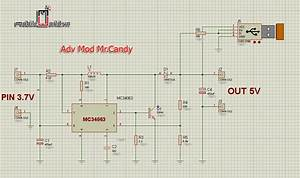 Rechargeable Battery Backup Circuit For Smartphone  Using
