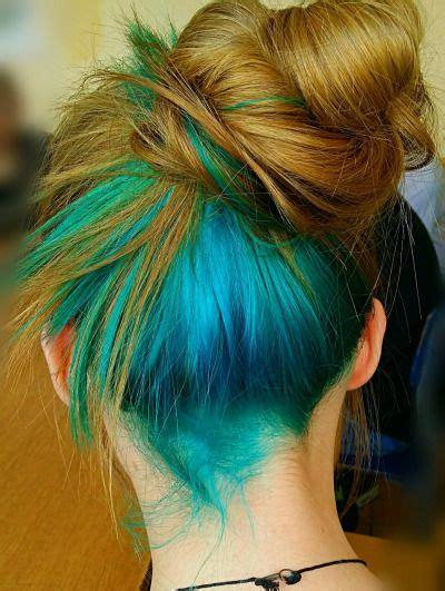 Dye Underneath Tumblr In 2019 Hair Dyed Hair Blue