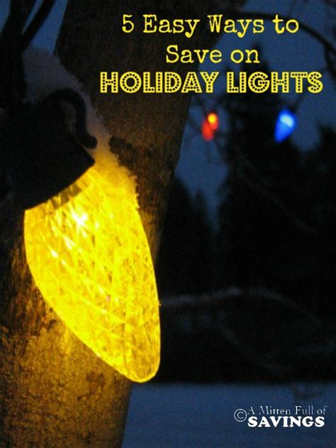 5 easy ways to save on holiday lights