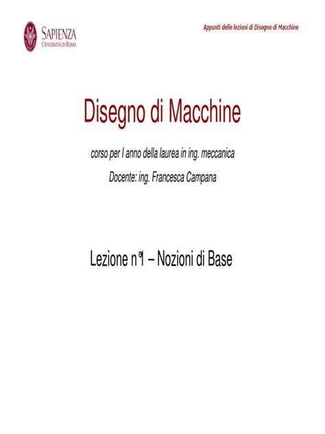 disegno meccanico dispense disegno macchine dispense di disegno meccanico