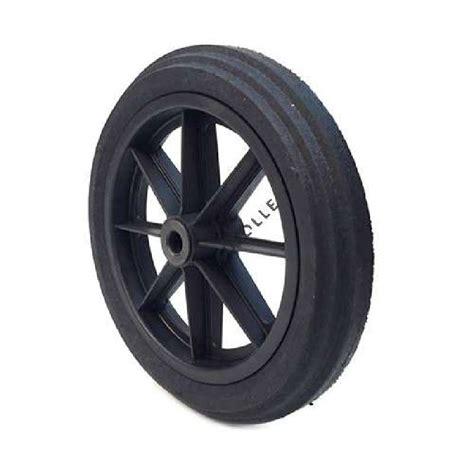 roue de brouette increvable diam 232 tre 360 mm axe 20 mm avec roulement