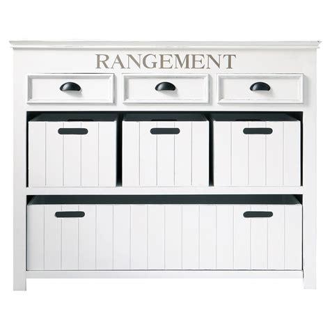 copper drawer commode avec casiers en bois blanche l 124 cm newport