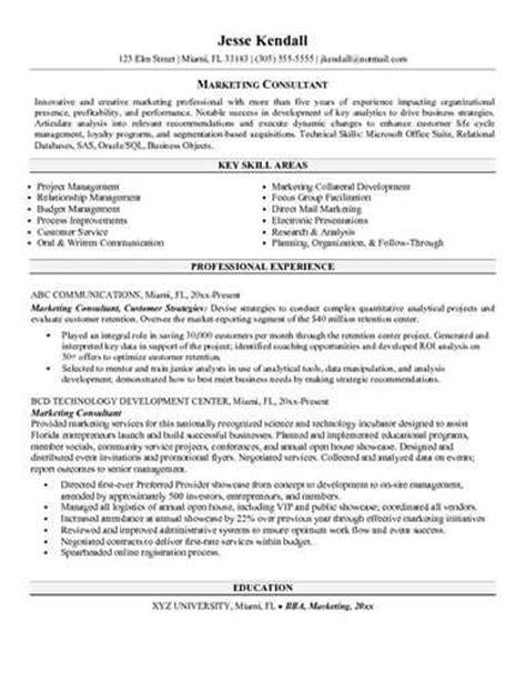 financial services consultant resume sle