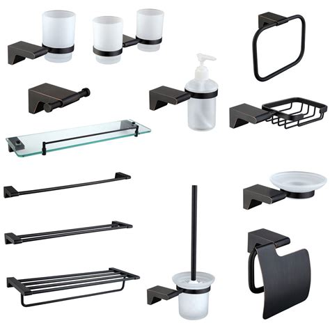 oil rubbed bronze bathroom accessories set paper holder