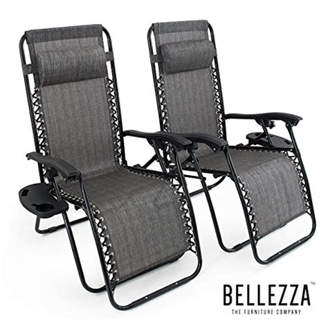 Portal oversized padded zero gravity chair, xl seat adjustable patio lounge recliner chair with lumbar support pillow and side table support 350lbs specifictions: Best and Coolest 19 Recliner Chairs