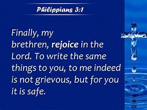 Philippians 3 1 It Is A Safeguard For You Powerpoint