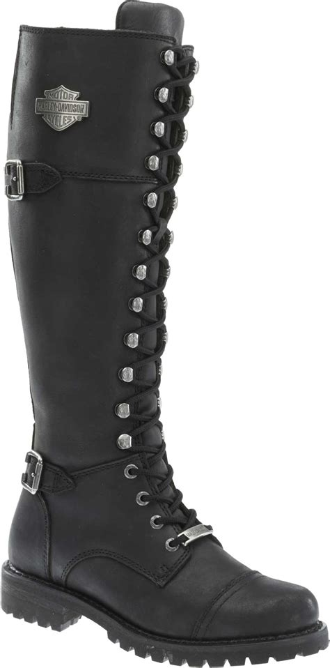 ladies black motorcycle boots harley davidson women 39 s beechwood 15 quot motorcycle boots