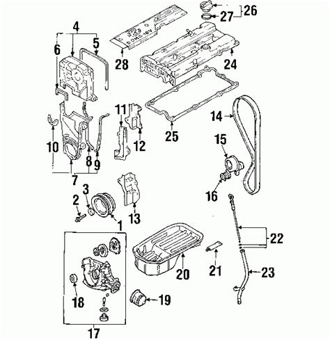 Hyundai Accent Engine Diagram Automotive Parts