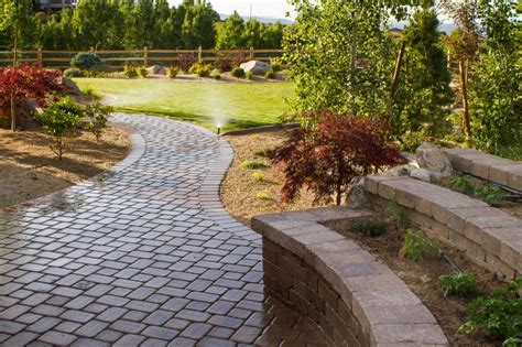 flagstone paver walkway paver or flagstone walkways nvision landscaping llc